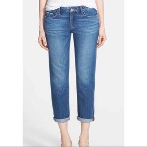Paige Jimmy Jimmy Boyfriend Cropped Jeans